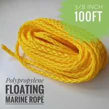 3/8inch 100ft Heavy Duty Lightweight Hollow Polypropylene Floating Anchor Mooring Rope Dock Rope Marine Rope Boat Sailing Rope