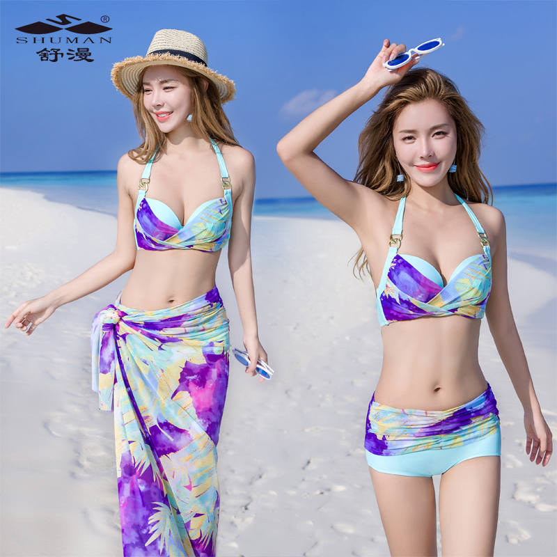 Push Up Bikini 2017 New Sexy  Bikinis Women Swimsuit Bathing Skirt Suits Swim Halter Set Maillot De Bain Femme Swimwear Dress swimwear women cheap sexy bathing suits swim suit one piece may beach girls push up skirt new neck maillot de bain femme une