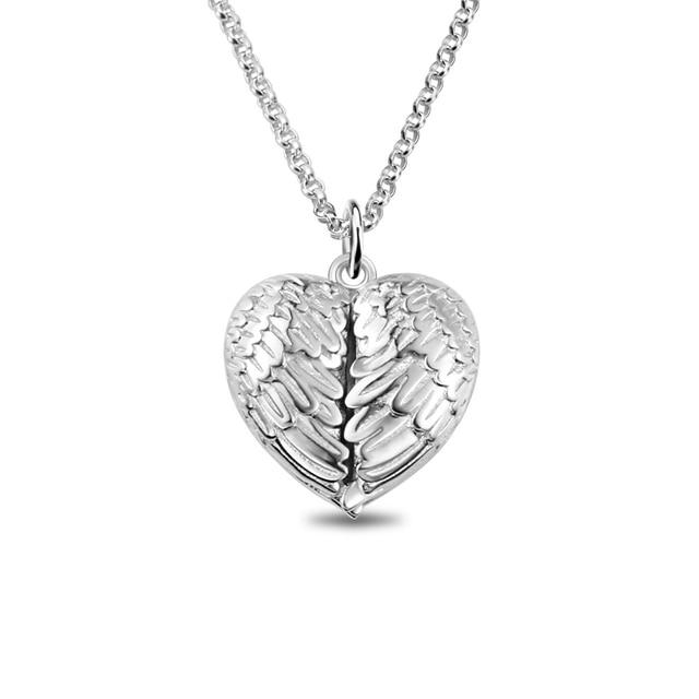 AILIN شخصية أجنحة الملاك قلادة صور مجوهرات لها محفورة قلادة هدية للذكرى السنوية
