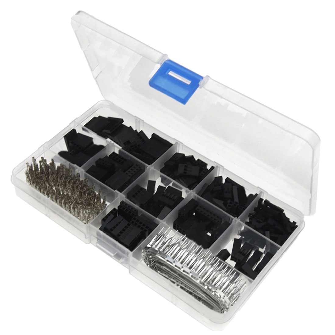 Good 620pcs Wire Cable Jumper Pin Header Connector Housing Kit Male Crimp Pins+Female Pin Connector Terminal Pitch With Box