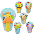 Baby animals hand stick Musical Hanging Toys Learning 0-12 Months Plush