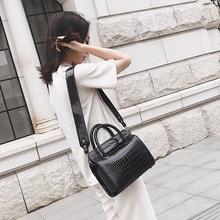 Miyahouse PU Leather Shoulder Bag For Women Alligator Pattern Luxury Messenger Bag For Female Solid Color Crossbody Bag Lady