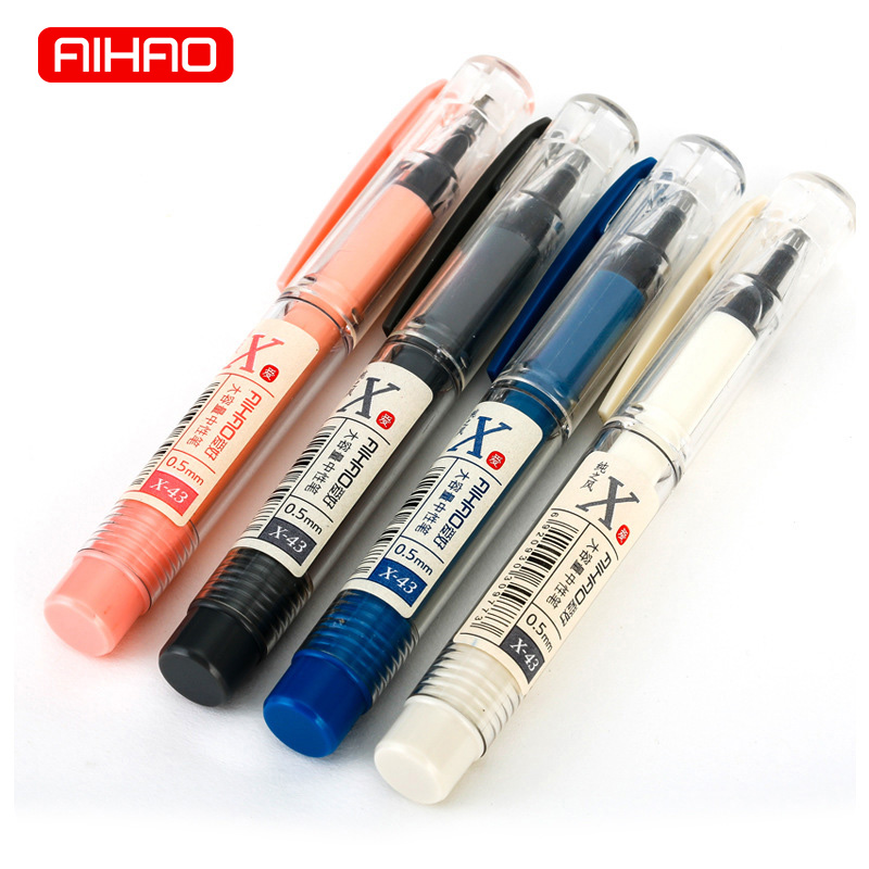 AIHAO Student 0.5mm Cute Kawaii Blue Black Ink Pen High Capacity Gel Pens For Writing Office School Supplies 1530