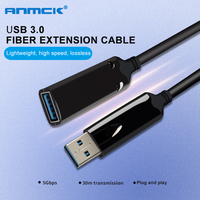 Anmck USB 3.0 Extension Cable 10M 5M 20M 30M 40M 3M 1M Optical Fiber Male To Female Mini USB To USB Extender Cord For Laptop