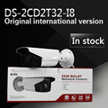 O envio gratuito de versão em inglês, 3MP EXIR Câmara Bullet w/POE, 3D DNR IP Network camera DS-2CD2T32-I8