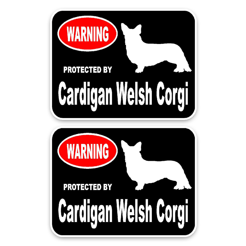 15*11.4cm 2x Cardigan Welsh Corgi Dog Pvc Car High Quality Sticker Decoration Graphic C1-4576 Bringing More Convenience To The People In Their Daily Life