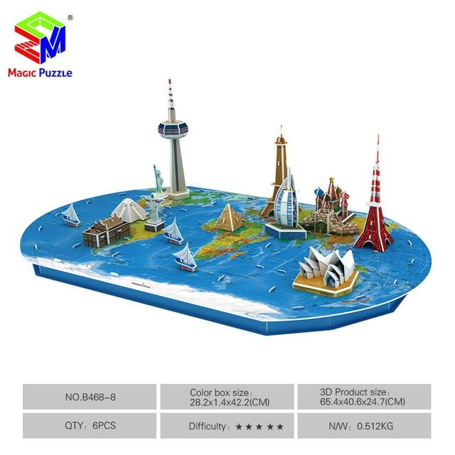 Magic Puzzle World Trip 3d Puzzle Diy Paper Fidget Puzzle For Kids
