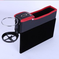 US Warehouse Home Car Seat Crevice Storage Box Grain Organizer Gap Slit Filler Holder Wallet Phone Coin Cigarette Slit Pocket