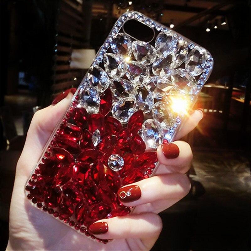Femme De Mode De Silicone Pour Iphone 7 Cas Logo De Luxe Pour Iphone 5S 6 s 7 8 X Plus Cas De Luxe diamant