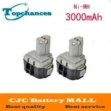 Bateria para Makita 2 PCS 12 V Volt 3000 MAH Ni-mh 1234 1235f 193138-9 192698-a