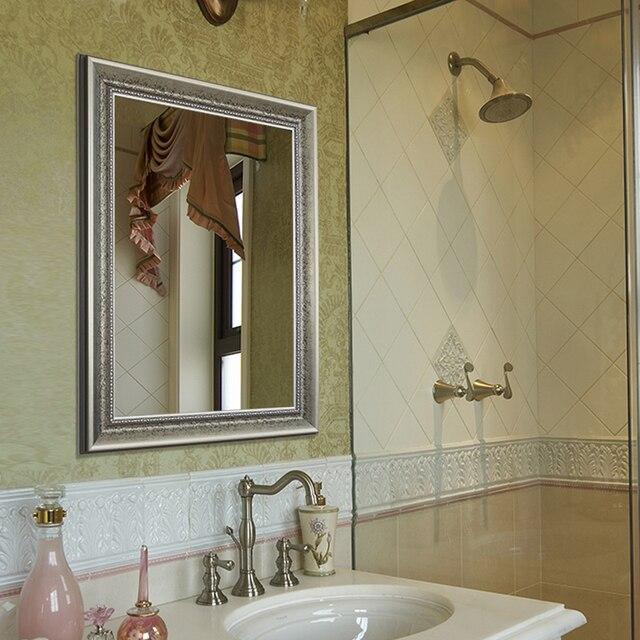 Bathroom mirror Retro wall mounted square mirror bedroom makeup ...