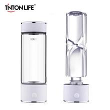 TINTON LIFE SPE/PEM 기술 수소 발생기 420ml 컵 바디 알칼리성 물 이온화 기 병 수소 풍부한 물 제조기