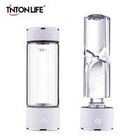 TINTON LIFE SPE/PEM Technology Hydrogen Water Generator 420ml Cup Body Alkaline Water Ionizer Bottle Hydrogen Rich Water Maker