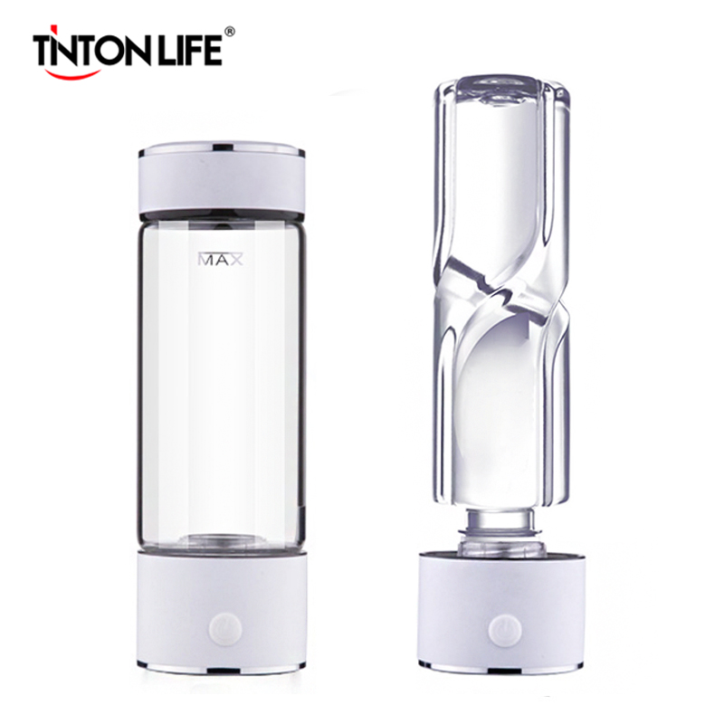 TINTON LIFE SPE/PEM Technology Hydrogen Water Generator 420ml Cup Body Alkaline Water Ionizer Bottle Hydrogen Rich Water Maker image