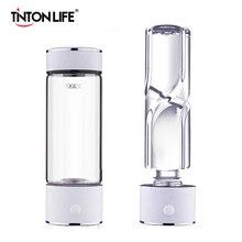 TINTON חיים SPE/טכנולוגית PEM מימן מים גנרטור 420ml כוס גוף אלקליין Ionizer המים בקבוק מימן עשיר מים יצרנית