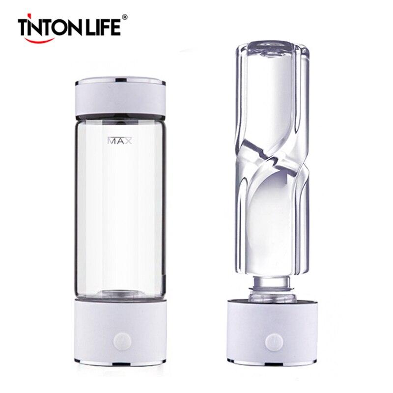 VIDA TINTON SPE/PEM Tecnologia Gerador De Hidrogênio e Água 420 ml Copo Garrafa de Água Rica Em Hidrogénio Alcalino Ionizador de Água Do Corpo fabricante