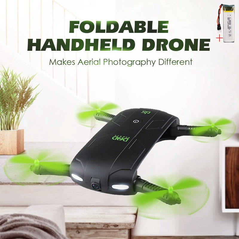 Selfie Drone With Camera Foldable Drones Pocket Fpv Quadcopter Rc Helicopter Remote Control Toy Mini Dron Vs Jjrc H37 JXD 523 aerial remote control helicopter h44wh 2 4g rhombus foldable pocket rc drone selfie 720p wifi camera fpv quadcopter vs x101 x5sw