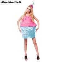 New Design Cream Cake Costume Halloween Lovely Girls Summer Ice Cream Dress Cosplay Outfits Clothings Carnival Party Outfit