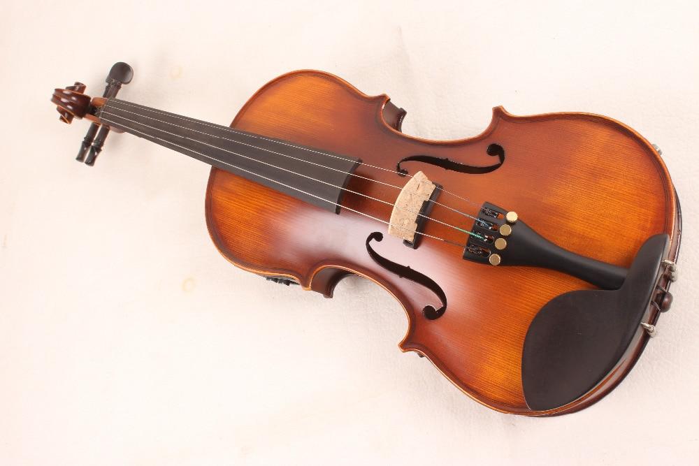ONE 4 string 4/4 Violin Electric Violin Acoustic Violin Maple wood Spruce wood Big jack BROWN colorONE 4 string 4/4 Violin Electric Violin Acoustic Violin Maple wood Spruce wood Big jack BROWN color