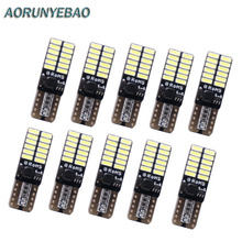 10pcs T10 led 24smd W5W canbus 24led 3014SMD  NO ERROR 12V Car Auto Bulbs Indicator Light Parking Lamps White