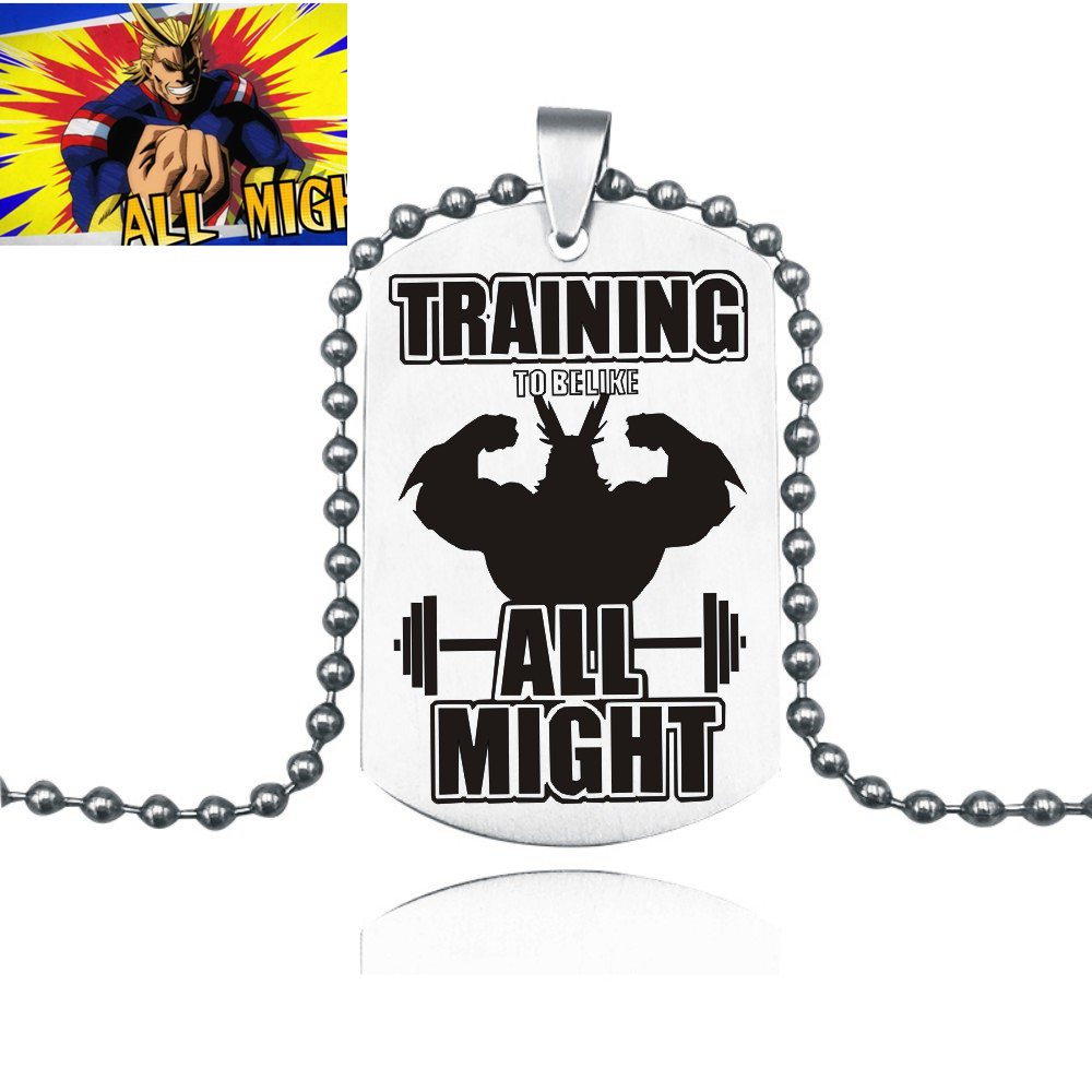 My Hero Academia necklace All Might Pendant keychain Anime cosplay Costumes Accessories Cosplay Prop torque Anime Toy