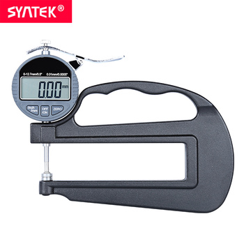 Syntek 12.7 25.4mm Electronic Digital Thickness Gauge 0.01/0.001mm Micron Thickness Indicator Large Long Deep Paper Leather Wall