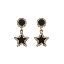 2019Female S925 Silver Needle Round Star Earrings Women Exquisite Personality Wild  Thin