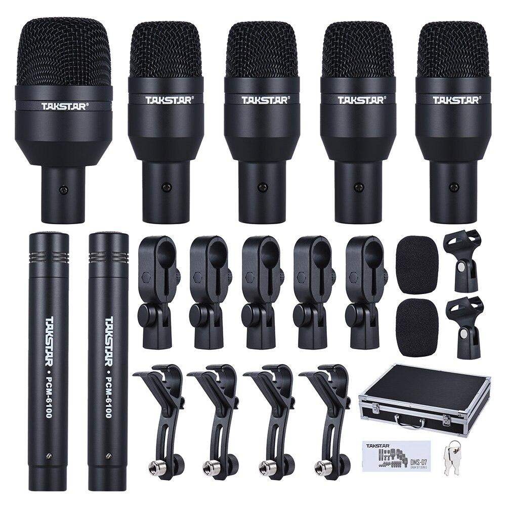 drum set wired microphone mic kit 1 big drum microphone 4 small drum microphones 2 condenser. Black Bedroom Furniture Sets. Home Design Ideas