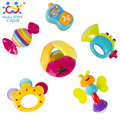 Pack of 6 Huile Toys 939A Baby Rattles for Baby Play Mordedor Chocalho Bebe Brinquedos Toys for Infant Free Shipping