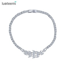 LUOTEEMI Fashion Luxury Jewelery Top Quality Sparkling Marquise CZ Zirconia Trendy Bracelets For Women Best Gifts