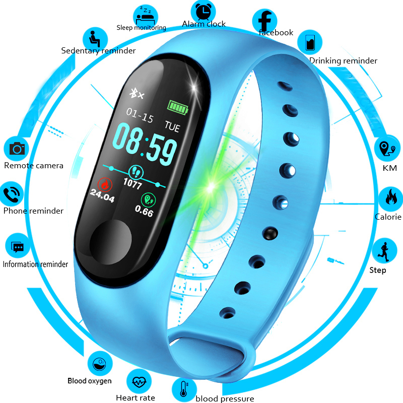 2018 Women Smart Watch Men Heart Rate Blood Pressure oxygen Sleep Monitor Pedometer Fitness Sport Watches For Men Android IOS