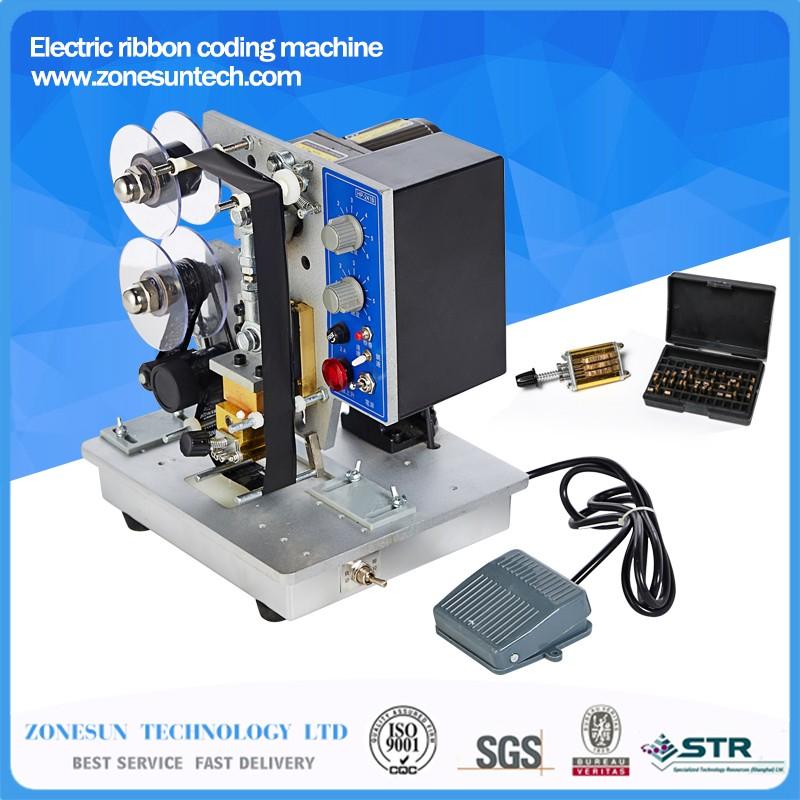 半自动 - 电 - 热邮票丝带码 - 打印机,色带编码器-HP-241B-彩色丝带热打印