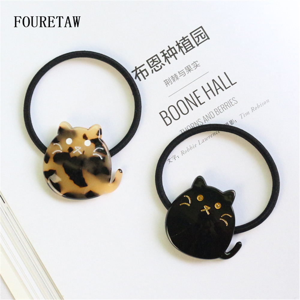 1 Piece Women Novelty Headbands Japanese Korean Style Cute Black Cat Shape Turban Bandage Bandana Headwear Elastic Headbands in Women 39 s Hair Accessories from Apparel Accessories