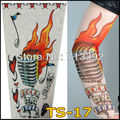 Mixed 6Pcs Of 140 Styles Nylon Stretchy Tattoo Sleeves Arm Leg Warmers Outdoor Riding Simulation Tattoo Free Shipping