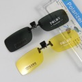 Small Polarized Sunglasses Clip on Sunglasses Eyeglasses Sun Glasses Drive Goggles Spectacles Yellow Night Vision Eyewear 773