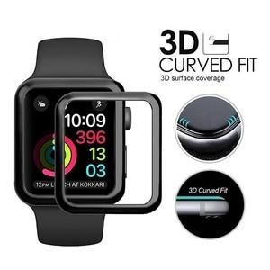 Image 2 - 10 PCS 3D Gebogen Volledige Dekking Gehard Glas Voor Apple Horloge Serie 1/2/3 42mm Screen protector iWatch Beschermende Film