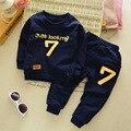 2016 Venda Quente de Outono Baby Boy & meninas Roupas T-shirt de Manga Comprida + calças 2 pcs Terno Esporte Roupa Do Bebê conjunto de Roupas Bebê Recém-nascido