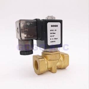 "Image 5 - جوجو عادة إغلاق 2 طريقة المدمجة الطيار المياه صمام ملف لولبي من النحاس 16bar 1/4 ""3/8"" 1/2 ""BSP الفوهة 10 ملليمتر 220 فولت AC PXC D14511 NBR"