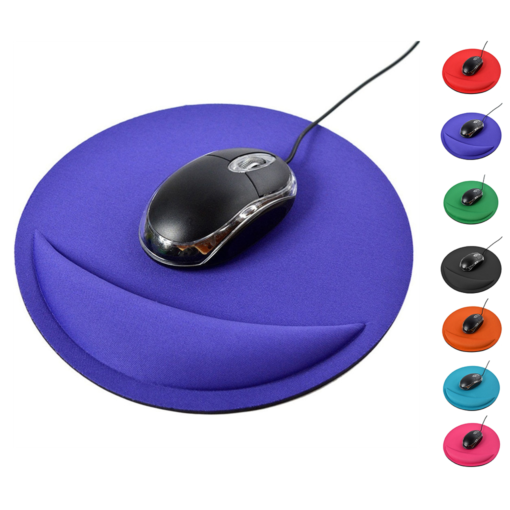 Solid Color Round Soft Wrist Protected Cushion EVA Gaming Mouse Pad Colorful Mat Non Slip Gift