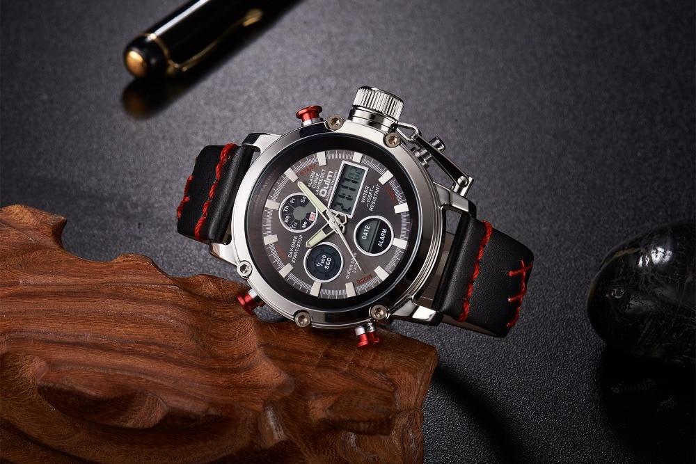 Reloj de cuarzo Oulm para hombre con doble pantalla analógica Digital para hombre  relojes de lujo de marca superior reloj deportivo de oro Masculino relogo  ... c0b04f34ed5f