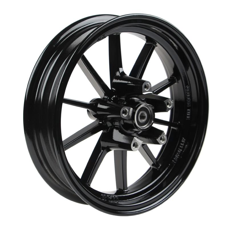 12*2.75 Inch Aluminum Front Wheel Rim(5 Hole For Brake Disc/axle Hole 12mm 6301) For Yamaha Scooter Cygnus Bws Modify все цены