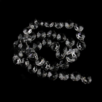 14mm acylic octagon beads garland strands chains chandelier parts lighting pendants door/home/wedding curtain decoration