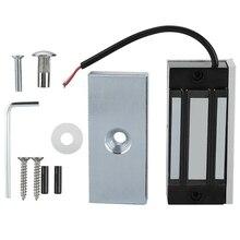 Dc24V puerta eléctrica magnética Cerradura Electromagnética 60Kg Retención de acceso de entrada Mini