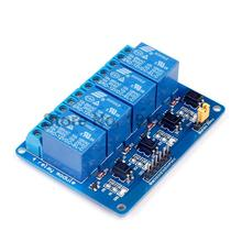 10pcs New 4 Channel Relay Module relay expansion board  12V Low level triggered 4 way relay module for arduino