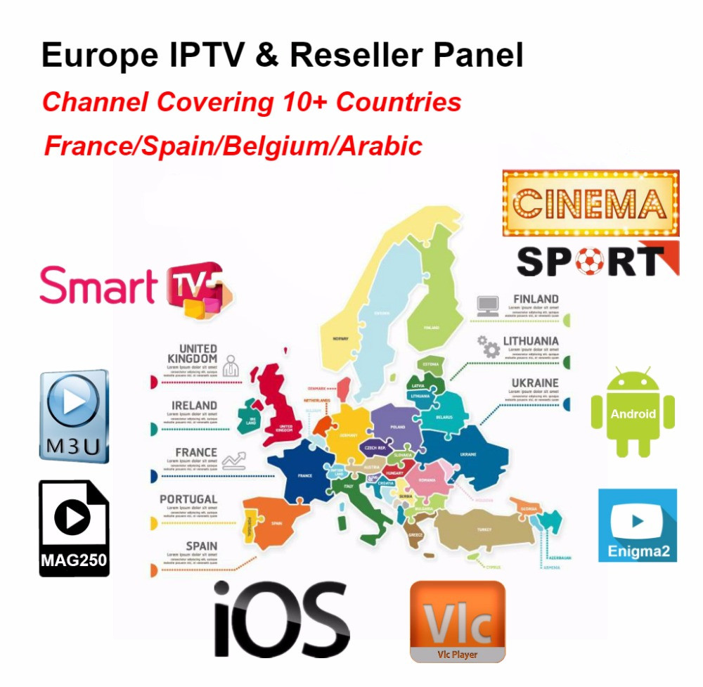 US $20 0 |Europe IPTV reseller panel include French IPTV Belgium IPTV  Arabic IPTV Support Android m3u enigma2 mag250 2000+Vod supported-in  Set-top