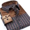 2017 Сорочка Homme мужской Моды рубашку с длинными рукавами щеткой плед brand clothing Slim Fit случайные плед camisa masculina