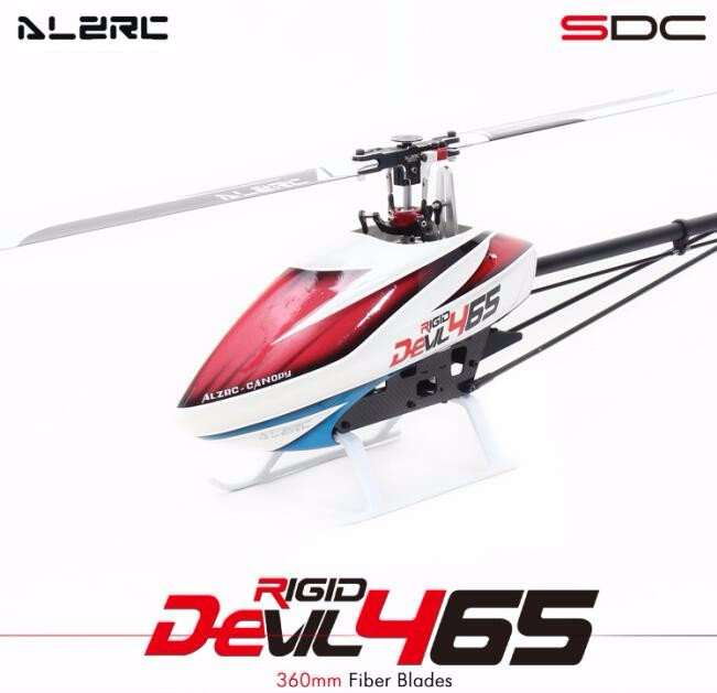 ALZRC - Devil 465 RIGID SDC/DFC Super Combo - Black - Standard alzrc devil 465 rigid sdc dfc super combo rc helicopter kit rc electric helicopter frame kit power driven helicopter drone