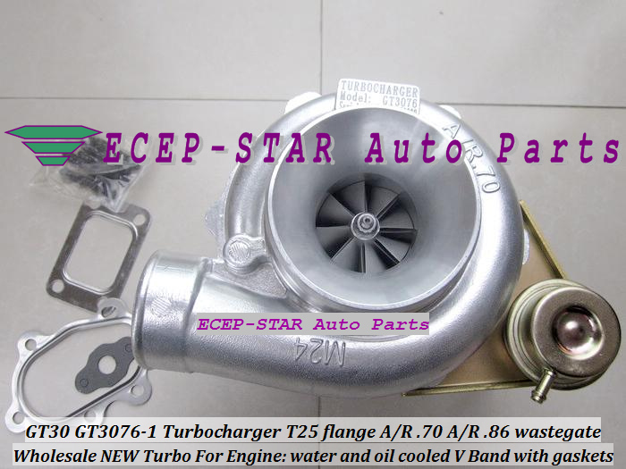 NEW GT30 GT3076 GT3076-1 Turbo Turbocharger T25 Flange A/R .70 A/R .86 wastegate water and oil cooled V Ban d with gaskets fr¿d¿ric muttin marine coastal and water pollutions oil spill studies