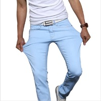 Odinokov Brand 2017 New Fashion Men S Casual Skinny Jeans Trousers Tight Pants Solid Colors
