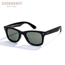 COLOSSEIN Summer Sunglasses Simple Plastic For Women Men Square Brown Frame Goggle Eyewear Classic Adult Fashion Style UV400